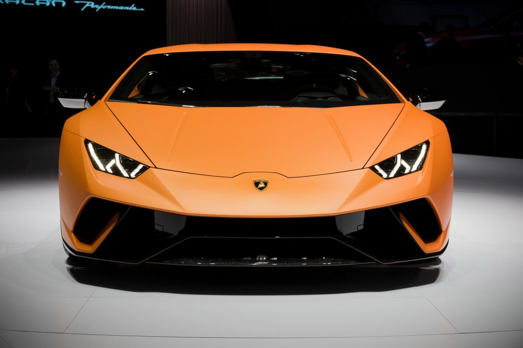 Lamborghini Huracan Performante sports car world premiere at the 87th Geneva International Motor Show.
