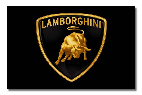 Lamborghini Logo on Black Background