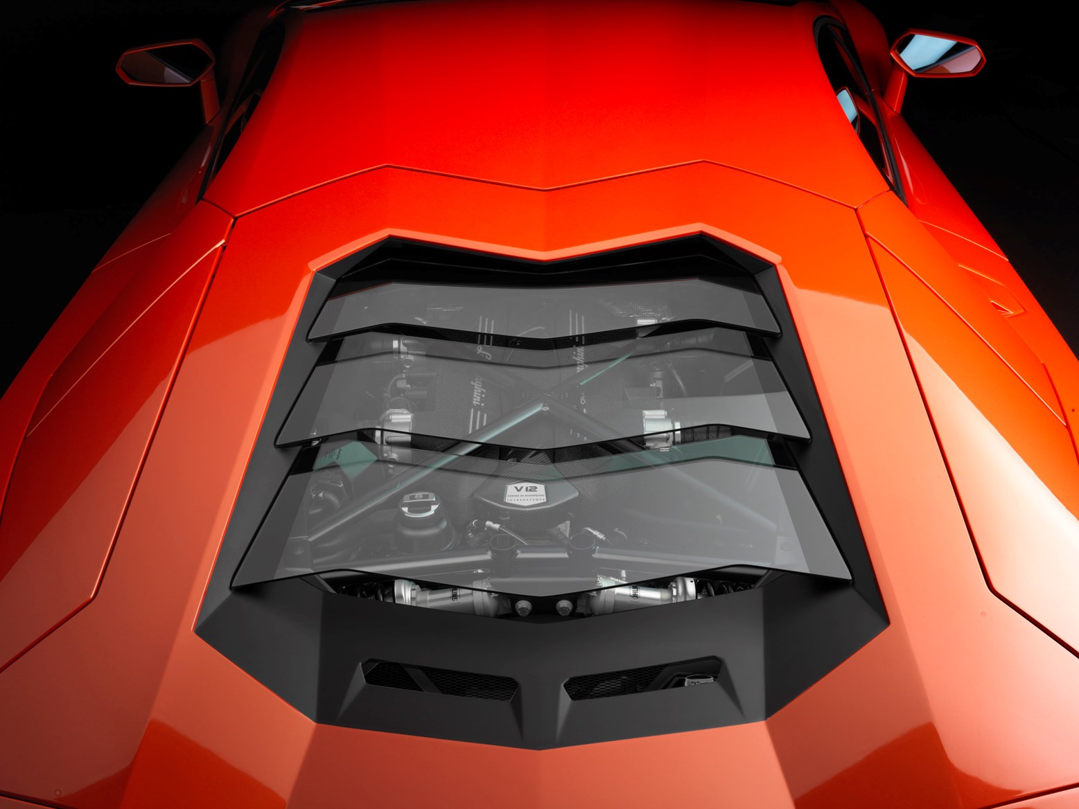 Lamborghini Aventador Engine Bay