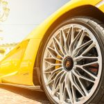 Yellow Lamborghini Wheel in City